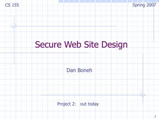 Secure Web Site Design