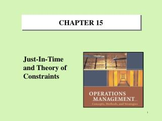 Just-In-Time and Theory of Constraints
