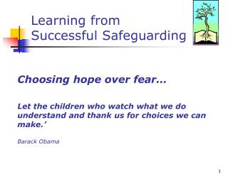 Learning from  Successful Safeguarding