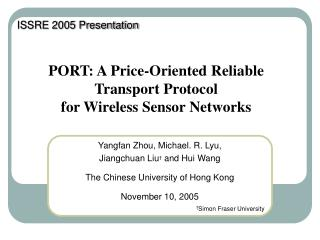 PORT: A Price-Oriented Reliable Transport Protocol  for Wireless Sensor Networks