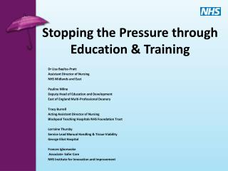 Stopping the Pressure through Education  Training