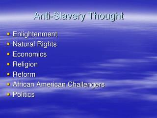 Anti-Slavery Thought