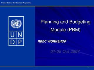 Planning and Budgeting Module PBM