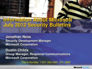 Information About Microsoft  July 2012 Security Bulletins