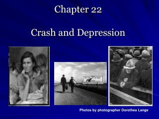 Chapter 22   Crash and Depression