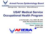 USAF Medical Service Occupational Health Program