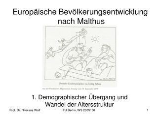 Europ ische Bev lkerungsentwicklung  nach Malthus