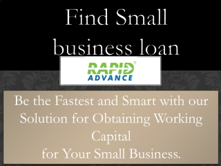 Find Small business loan