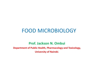 Microbiological Status of  Ready-to-Eat Foods.