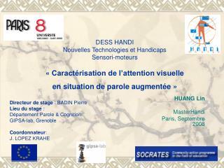 Directeur de stage : BADIN Pierre Lieu du stage : D partement Parole  Cognition  GIPSA-lab, Grenoble  Coordonnateur: J.