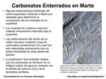 Carbonatos Enterrados en Marte