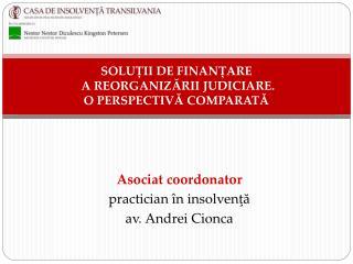 SOLUII DE FINANARE  A REORGANIZARII JUDICIARE.  O PERSPECTIVA COMPARATA