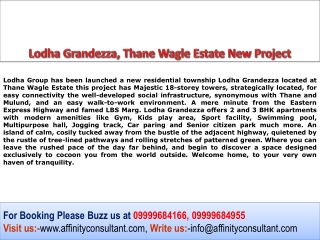 Lodha Grandezza, Thane New Project 09999684955