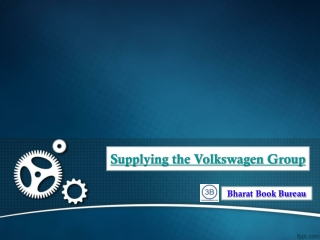 Supplying the Volkswagen Group