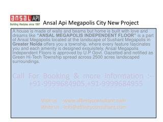 Megapolis City New Project Greater Noida(9999684905)