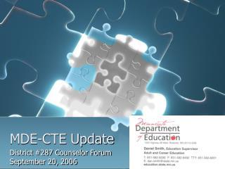 MDE-CTE Update