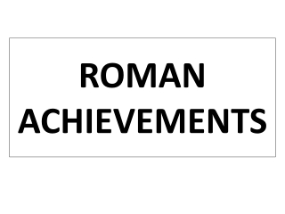 Essential Question: What were the lasting characteristics of the Roman Republic  the Roman Empire   Warm-Up Question: Wh