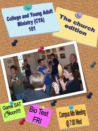 College and Young Adult Ministry CYA 101