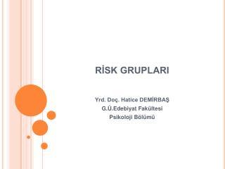 RISK GRUPLARI