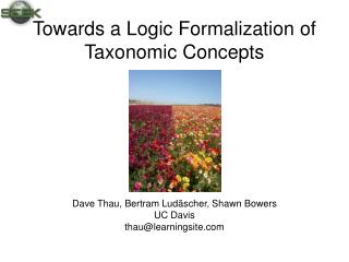 Towards a Logic Formalization of Taxonomic Concepts