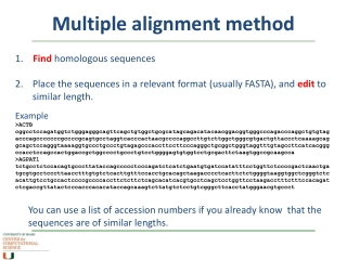 Sequence analysis: what is a sequence