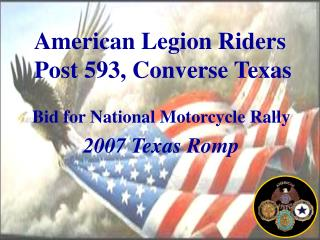 American Legion Riders  Post 593, Converse Texas
