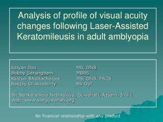 Analysis of profile of visual acuity changes following Laser-Assisted Keratomileusis in adult amblyopia