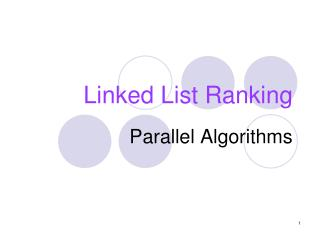 Linked List Ranking