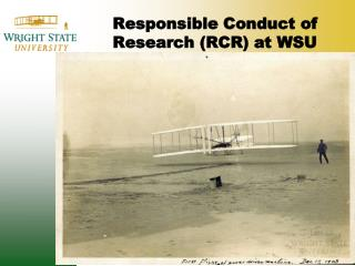 Responsible Conduct of Research RCR at WSU