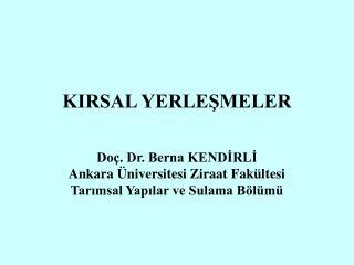 KIRSAL YERLESMELER