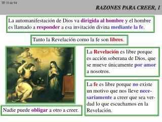 RAZONES PARA CREER, 1