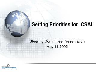 Setting Priorities for  CSAI