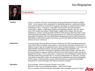 Aon Biographies