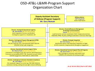OSD-ATL-LMR-Program Support  Organization Chart