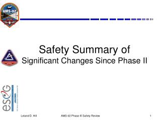 Safety Summary of Significant Changes Since Phase II