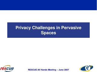 Privacy Challenges in Pervasive Spaces