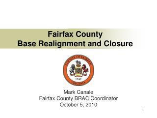 Fairfax County Base Realignment and Closure