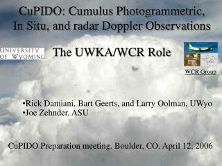 CuPIDO: Cumulus Photogrammetric,   In Situ, and radar Doppler Observations