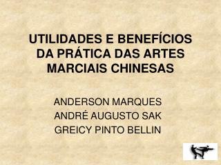 UTILIDADES E BENEF CIOS DA PR TICA DAS ARTES MARCIAIS CHINESAS