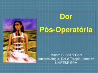 Dor  P s-Operat ria
