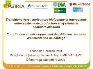 Transitions vers l agriculture biologique et interactions entre syst me de production et syst me de commercialisation  C