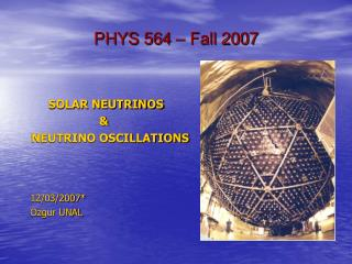 PHYS 564   Fall 2007