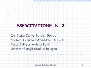 ESERCITAZIONE  N. 3