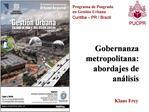 Programa de Posgrado en Gesti n Urbana Curitiba   PR