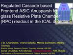 Regulated Cascode based  Frontend ASIC Anusparsh for  glass Resistive Plate Chamber RPC readout in the ICAL detector