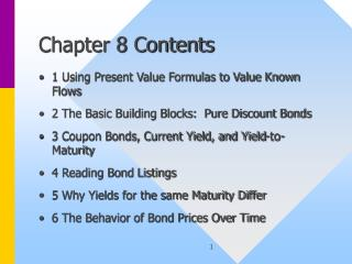 Chapter 8 Contents