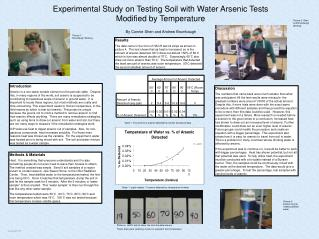 Experimental Study on Testing Soil with Water Arsenic Tests Modified by Temperature