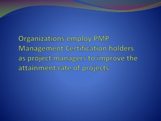 PMP Management Certification