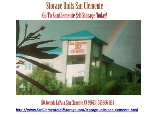 Storage Units San Clemente
