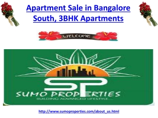Apartment Sale in Bangalore South, 3 BHK Apartments